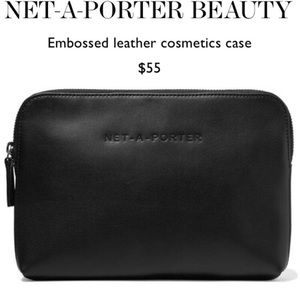 Net A Porter Embossed Leather Cosmetics Makeup Bag